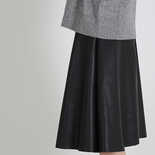 (바로배송)leather skirt